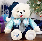 SNOWFLAKE CHRISTMAS TEDDY BEAR TEAL BOY DATED 2020 LARGE 20 FREE SHIPPING