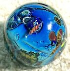 Contemporary art glass marble Josh Simpson Inhabited Planet Free Shipping