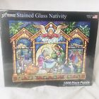 Vermont Christmas Company Stained Glass Nativity 1000 pc Puzzle NIB Sealed