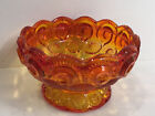 Beautiful LE Smith Red Amberina Moon  Star Candy Bowl NO LID 275 Tall 4 1 2W