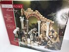 Living Home Deluxe 14 Piece Nativity Set w Creche Christmas Decorations  RARE