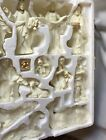 Belk Holiday Home Accents 13 Piece Jade Porcelain Nativity Scene White Gold Trim