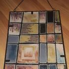 2 Contemporary Stained Glass Window Panel