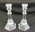 Tiffany  Company Set Of 2 Crystal Glass Plymouth Candle Stick Holders