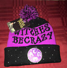 Disney Hocus Pocus Knit Beanie Hat WITCHES BE CRAZY NEW