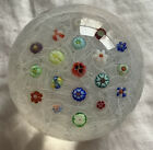 PARABELLE SCATTERED MILLEFIORI PAPERWEIGHT