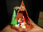 Vintage Miniature Plastic Nativity Set Made in Hong Kong Original Box Glitter