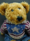 Boyds Collection LTD Bear in Americana Sweater & Overalls Bearwear Clothing