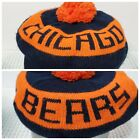 Vintage 80s Chicago Bears Pom Golf Beret Beanie Winter Stocking Hat Made In USA