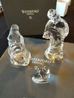 Waterford Crystal Holy Family Nativity Mary Joseph Baby Jesus Set Contemporary