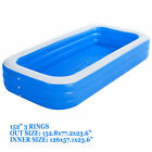 152 x 77 thick material inflatable pool set Square swimming pool big