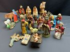 Lot 26 Vintage ITALY  Other Countries Chalkware NATIVITY Sets Christmas 1950s