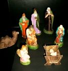 15 Colorful Antique Vintage German Made Nativity Figures Christmas Lot 1930s