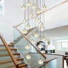 Stairs droplight Crystal Glass Ball Lamp Square Diamond Modern Pendant Light