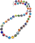 Authentic Murano Glass Millefiori Bead Necklace Hand Made in Italy