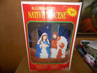 1999 Grand Venture 28 Nativity Set Blow Mold Light Up Yard Decor W Box
