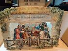 Vintage Victorian style Christmas pop Up standing nativity card B Shackman