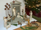 20pc Willow Tree Nativity Christmas Holiday Creche Jesus Manger Excellent Cond