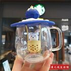 Starbucks Hot air balloon Glass Coffee Mugs W LidStrainer Cups Limited Edition
