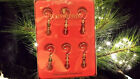 WATERFORD Crystal Boxed Set of 6 Ornament Enhancers Green, Red, Clear - EUC
