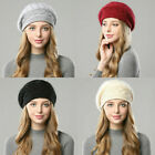Women Berets Hat Winter Warm Beanie Caps French Tam Slouch Girls Ladies Hats US