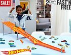 Hot Wheels 4 Lane Car Toy Stunt Track and Builder Pack Racing Play Set USA