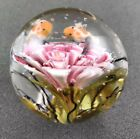 Handmade Glass Marble Pink Lilly Tiny Koi Family Bubble Marble 1 1 2