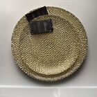 New Silverina TURKISH GLASS Gold SPARKLE Dinner Plates  Salad Plate