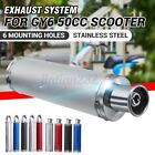 Motorcycle Exhaust Muffler Silencer Pipe For 4 Stroke GY6 50cc ATV Pit Dirt