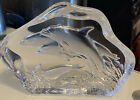 Robert Wyland Signed Art Glass Sculpture or Paperweight DOLPHINS Nice