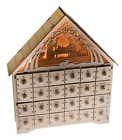 Nativity Scene Advent Calendar Wooden 24 Day Countdown Solid Wood Construction