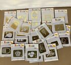 Huge Lot Of 25 New Sizzix Brass Embossing Folders Simple Impressions Variety