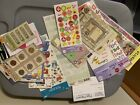 Huge Scrapbook Sticker Lot 110 Sheets 1000+ Stickers Cut Outs Tags Eyelets