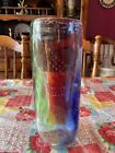 Archimede Seguso Tricolor Red Green Blue Vase Bullicante Murano Glass Vase 13
