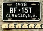 CURACAO License Plate Tag 1980 MOPED Low Shipping