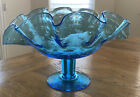 Vintage Bischoff Art Glass Controlled Bubble Banana Boat