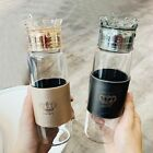 Glass Water Bottle Heat Resistant Fashion Travel Coffee Tumbler With Crown Lid