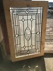 Sg 2845 antique textured and Beveled glass window 23 x 35