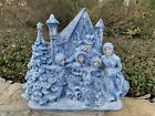 Vintage 1979 Atlantic Mold Ceramic Christmas Tree And Carolers Lighted