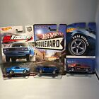 Hot Wheels Redliners 68 Copo Camaro Boulevard And Real Riders 69 Camaro Lot of 3