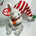 2005 Vtg Ty Beanie Baby of the Month Flicker Gray Mouse Red White Hat Kids Toys