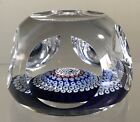 VINTAGE GLASS PAPERWEIGHT WHITEFRIARS MONK CANE CONCENTRIC