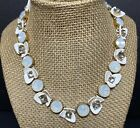 J Crew White Flower Necklace Opaque Crystal Rhinestone Floral Fashion Jewelry