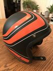 Bell XS Orange Black Open Face Motorcycle Moped Helmet Extra Small