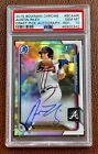 2015 Bowman Chrome AUSTIN RILEY Refractor Auto RC PSA 10 Autograph Rookie Braves