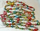 8 FEET 100 Vintage Mercury Glass Bead Christmas Garland Big Beads Antique
