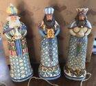 Jim Shore 3 Wisemen Addition to the Blue Nativity Bearing Gifts NEW in BOX WOW