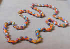 Vintage Murano Glass Beads Millefiori M ORANGE Necklace