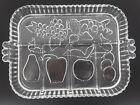 Indiana Glass Clear Divided Fruit Pattern 13 Relish Serving Tray Platter Dish