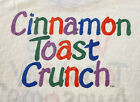 Vintage 80s Cinnamon Toast Crunch Cereal Snack Promo Ringer T Shirt XL RARE USA